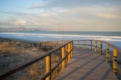 Paisaje de la playa de Costa Blanca Foto de archivo libre de regalías