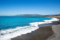 Paisaje de la playa de Kaioura fotografía de archivo libre de regalías