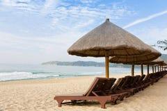 Paisaje de la playa de la mañana Fotografía de archivo libre de regalías