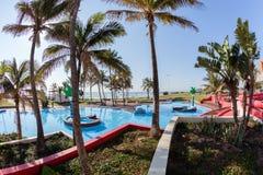 Paisaje de la playa de la piscina Fotos de archivo libres de regalías