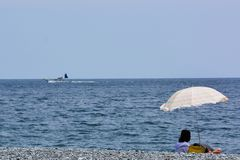 Paisaje de la playa del verano Imágenes de archivo libres de regalías