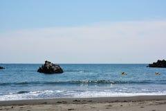 Paisaje de la playa del verano Imagen de archivo libre de regalías