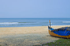 Paisaje de la playa en el mar Imagen de archivo libre de regalías