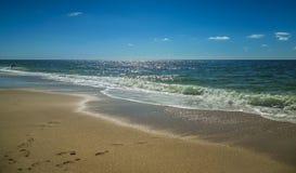 Paisaje de la playa en el Mar del Norte Imagen de archivo libre de regalías