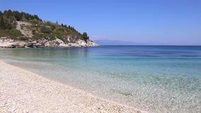 Paisaje de la playa de Kipiadi en la isla Grecia de Paxos metrajes