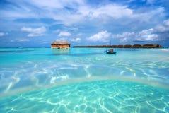 Paisaje de la playa, Maldives fotografía de archivo