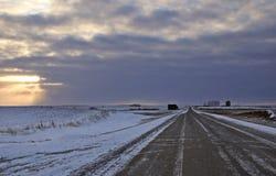 Paisaje de la pradera en invierno Imagen de archivo libre de regalías