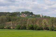 Paisaje de la primavera en Baviera Fotos de archivo