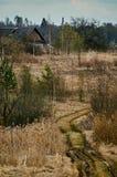 Paisaje de la primavera en el lago en la región de Kaluga (Rusia) Imágenes de archivo libres de regalías