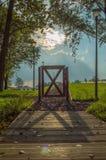 Paisaje de la puerta Fotografía de archivo libre de regalías