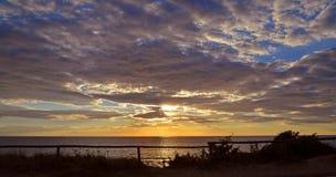 Paisaje de la puesta del sol Fotografía de archivo libre de regalías