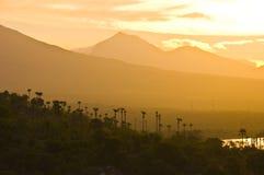Paisaje de la puesta del sol de Bali Imágenes de archivo libres de regalías