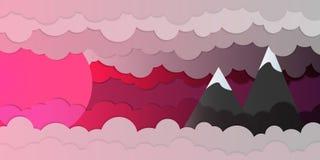 Paisaje de la puesta del sol de Cloudly Imagen de archivo libre de regalías