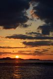 Paisaje de la puesta del sol de Jeju Foto de archivo