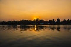 Paisaje de la puesta del sol del verano Fotos de archivo libres de regalías