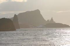 Paisaje de la puesta del sol en la Antártida Imagen de archivo libre de regalías