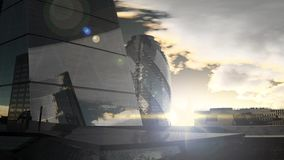 Paisaje de la puesta del sol de Londres almacen de video