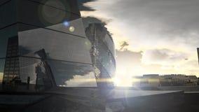 Paisaje de la puesta del sol de Londres ilustración del vector