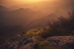 Paisaje de la puesta del sol del otoño fotografía de archivo libre de regalías