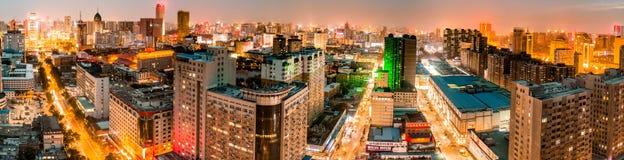 Paisaje de la puesta del sol de Tai-Yuan Fotos de archivo libres de regalías