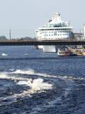 Paisaje de la raza de barco de la velocidad Imagen de archivo libre de regalías