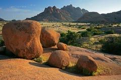 Paisaje de la roca del granito Imágenes de archivo libres de regalías