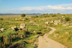 Paisaje de la roca del granito de Valencia de Alcantara fotos de archivo
