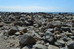 Paisaje de la roca en la bahía California de Morro Foto de archivo