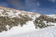 Paisaje de la roca y de la nieve, Nueva Zelanda del sur Fotos de archivo