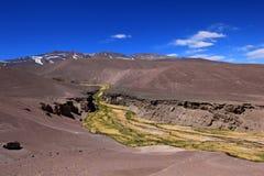 Paisaje de la ruta 6000, desierto de Atacama, Chile Fotografía de archivo