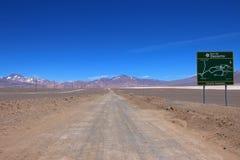 Paisaje de la ruta 6000, desierto de Atacama, Chile Foto de archivo libre de regalías