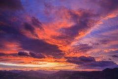 Paisaje de la salida del sol Imagen de archivo libre de regalías