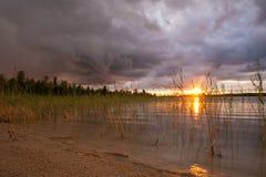 Paisaje de la salida del sol Fotos de archivo