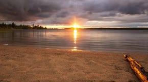 Paisaje de la salida del sol Foto de archivo libre de regalías