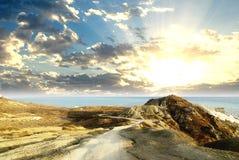 Paisaje de la salida del sol Imágenes de archivo libres de regalías