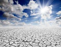 Paisaje de la sequía Foto de archivo