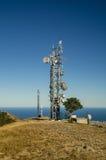 Paisaje de la torre de las telecomunicaciones Foto de archivo