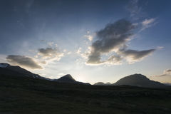 Paisaje de la tundra en Suecia septentrional Fotografía de archivo libre de regalías