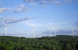 Paisaje de la turbina de viento fotografía de archivo