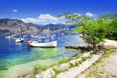 Paisaje de Lago di Garda Foto de archivo libre de regalías