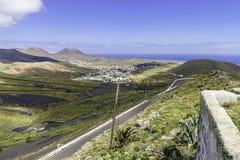 Paisaje de Lanzarote Fotos de archivo libres de regalías