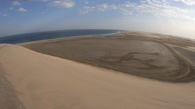Paisaje de las dunas del desierto almacen de metraje de vídeo