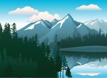 Paisaje de las montañas ilustración del vector