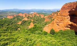 Paisaje de las montañas cerca de Ponferrada Las Medulas imagen de archivo
