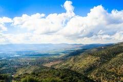 Paisaje de las montañas de Galilea Fotos de archivo libres de regalías