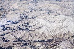 Paisaje de las montañas de la nieve en Japón cerca de Tokio Imagen de archivo