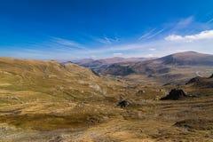 Paisaje de las montañas de Parang, Rumania Foto de archivo
