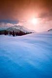 Paisaje de las montañas del invierno Fotos de archivo libres de regalías
