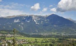 Paisaje de las montañas en Eslovenia Imagen de archivo libre de regalías