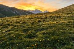 Paisaje de las montañas de Italia de Appennini foto de archivo